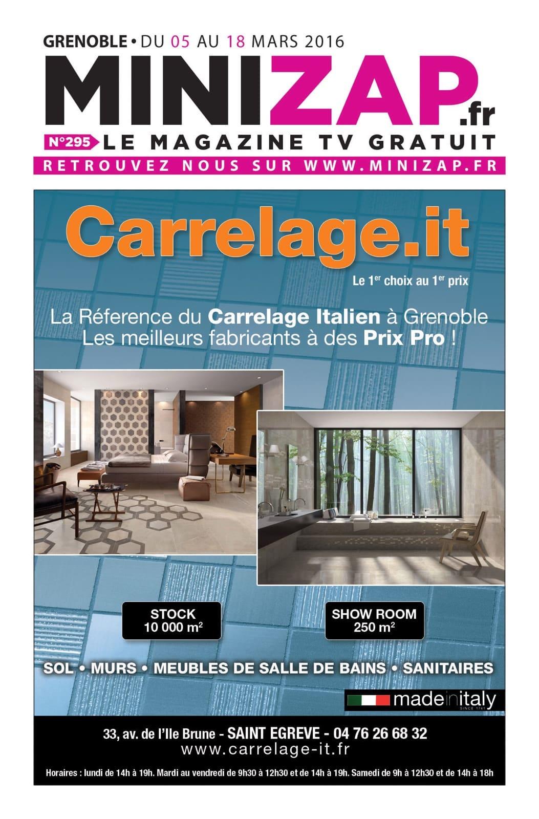 Salle De Bain Saint Egreve ~ Publicit Mini Zap Mars 2016 Carrelage It